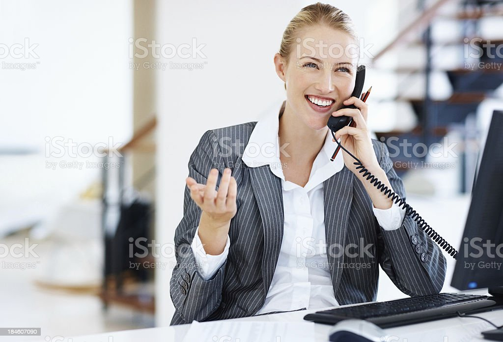 Female executive at work royalty-free stock photo