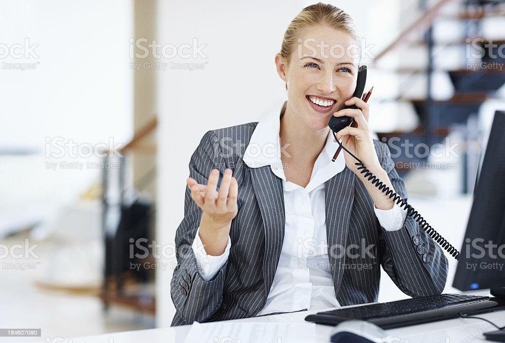 Female executive at work stock photo