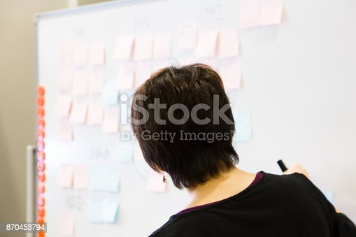 497451790 istock photo Female executive explaining new business idea to colleagues. 870453794