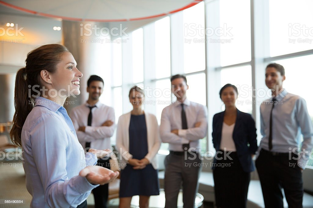 Female Executive Manager and Team stock photo