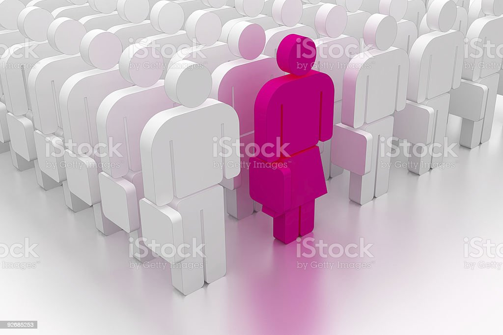 Female executive royalty-free stock photo