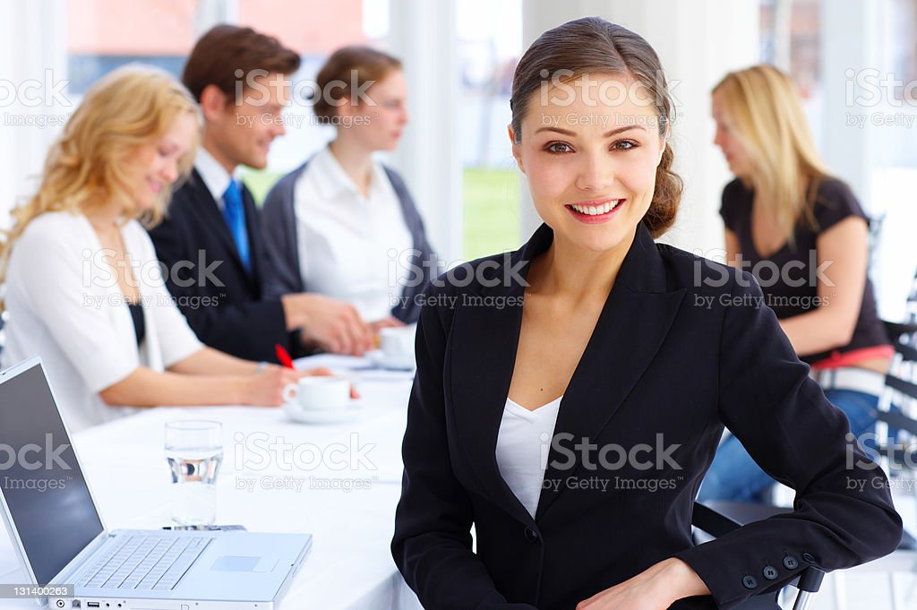 Female executive smiling royalty-free stock photo
