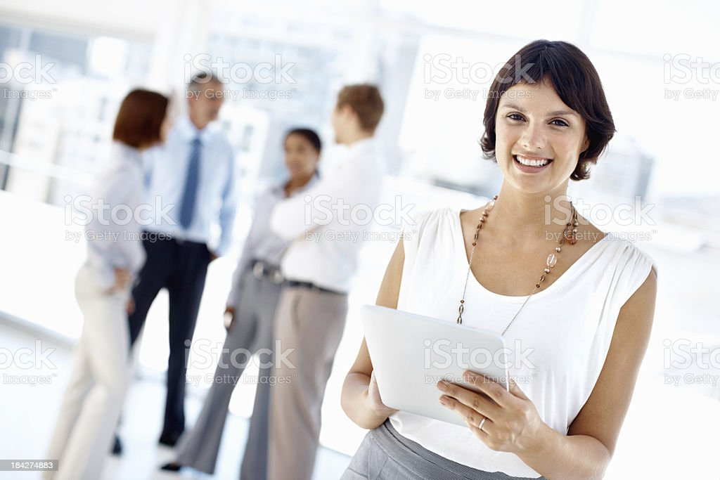 Female executive using tablet PC royalty-free stock photo