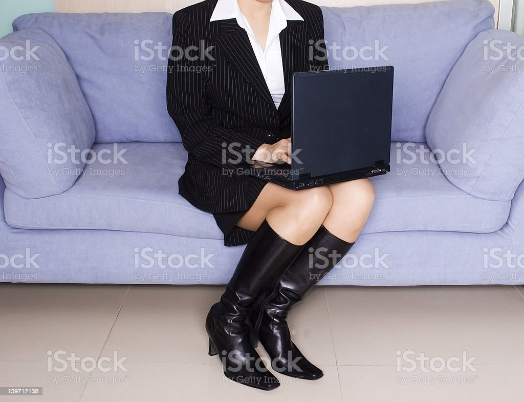 female executive with laptop royalty-free stock photo