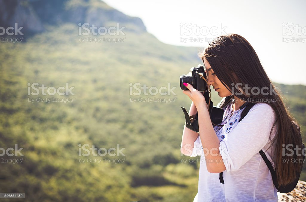 Female explorer royalty-free stock photo