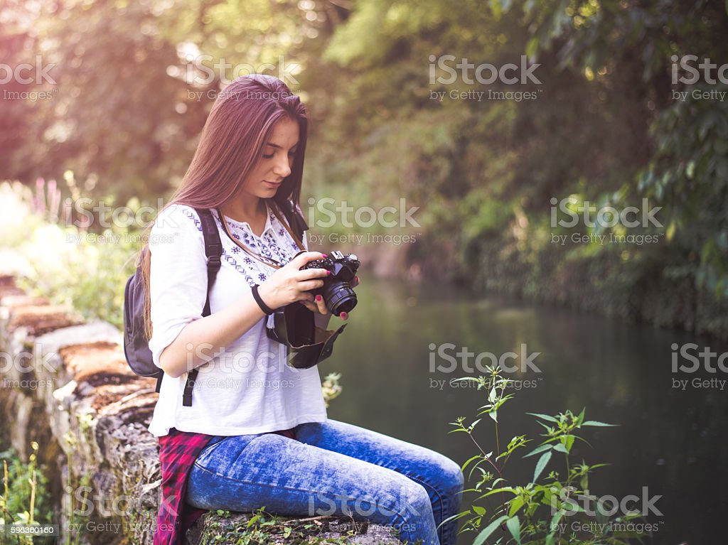 Female explorer royalty-free stock photo