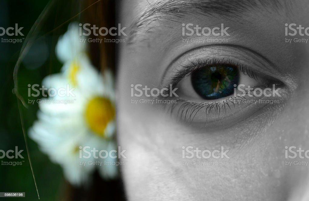 Gros plan de femme les yeux photo libre de droits