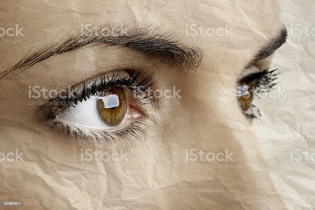 Female eyes royalty-free stock photo