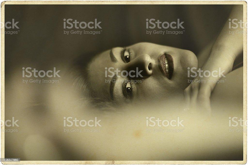 Female Face Vintage Photo