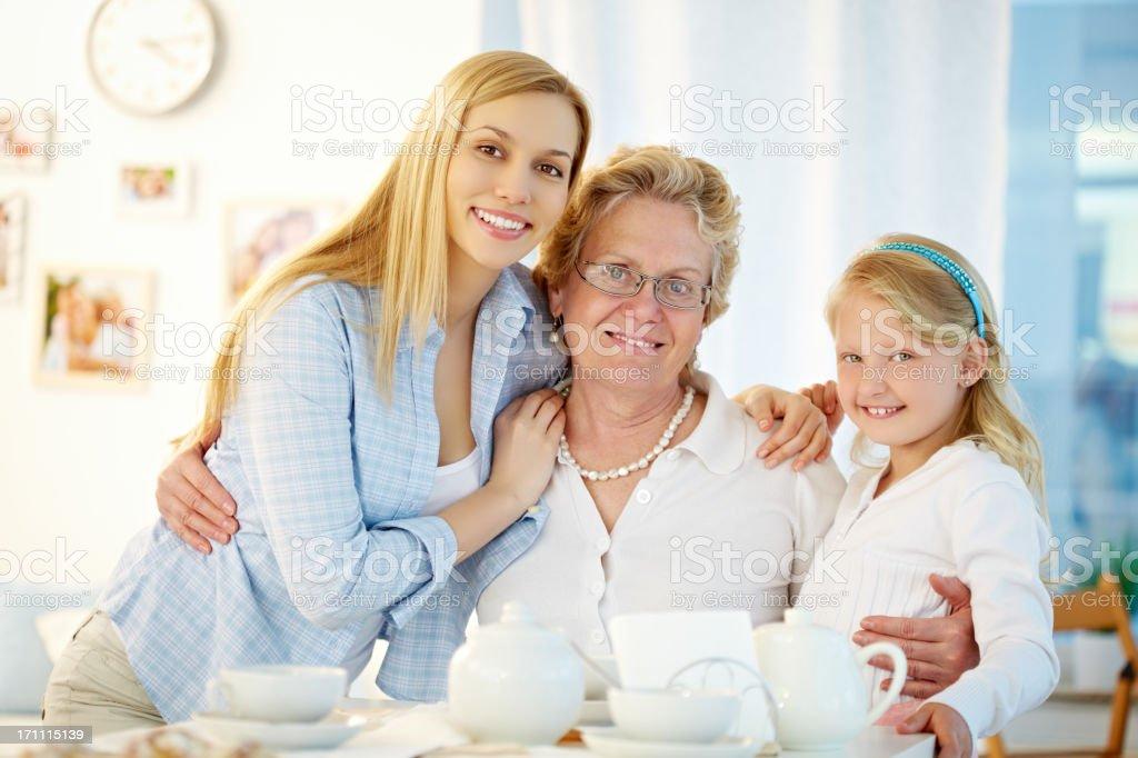 Female family royalty-free stock photo