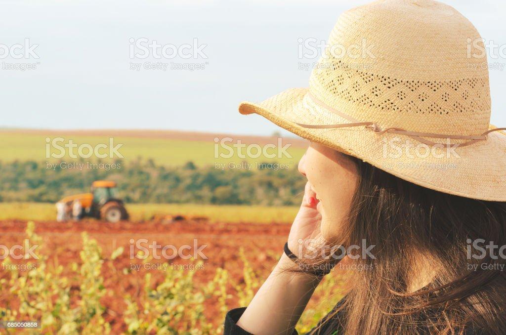 Gerente de fazenda feminino - foto de acervo
