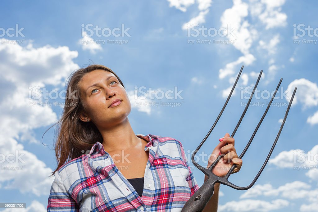 Female farmer royalty-free stock photo