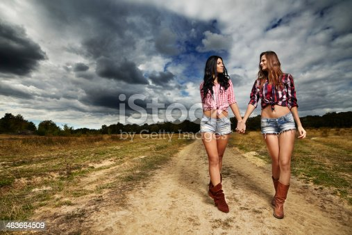 istock Female farmers in the countryside 463664509