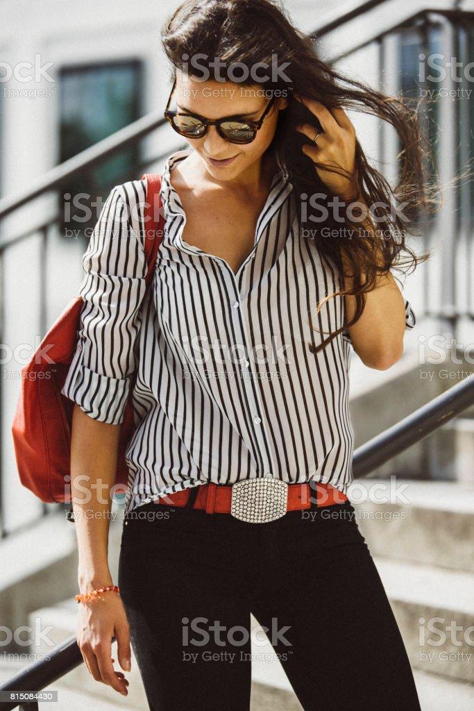 Blogueiro de moda feminina em Munique, Alemanha - foto de acervo