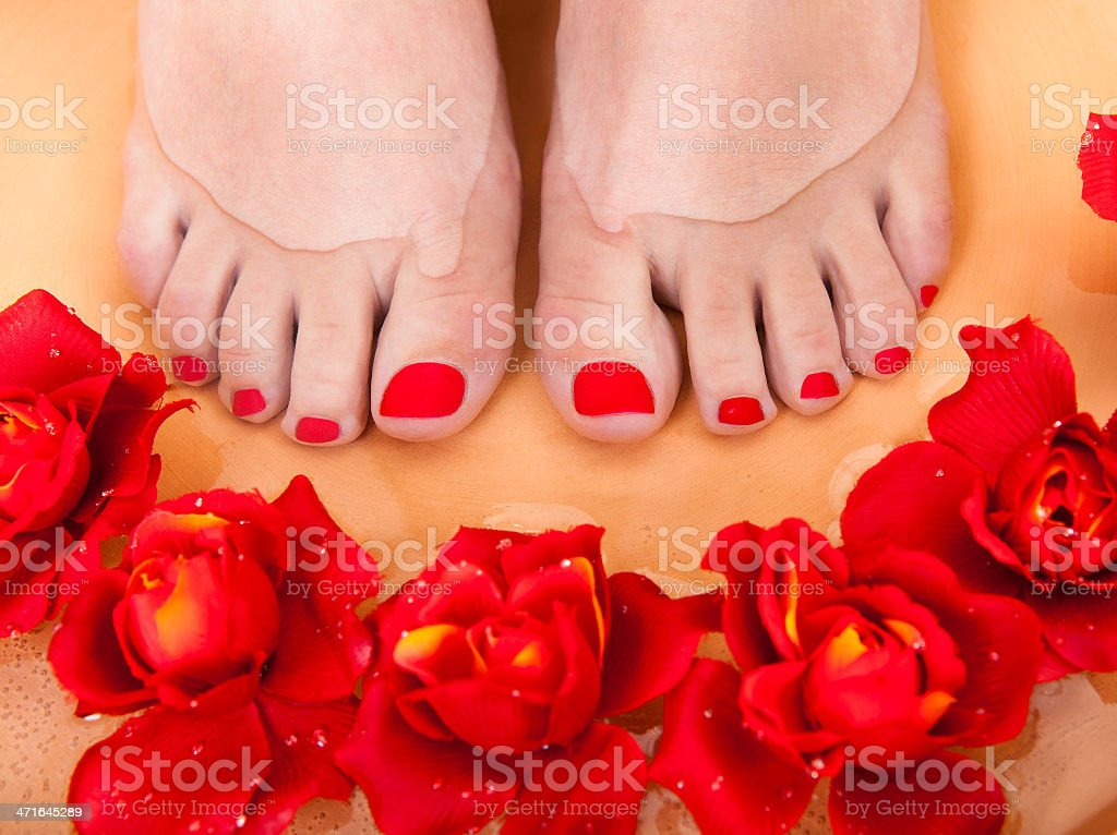 Female Feet Getting Aroma Therapy royalty-free stock photo