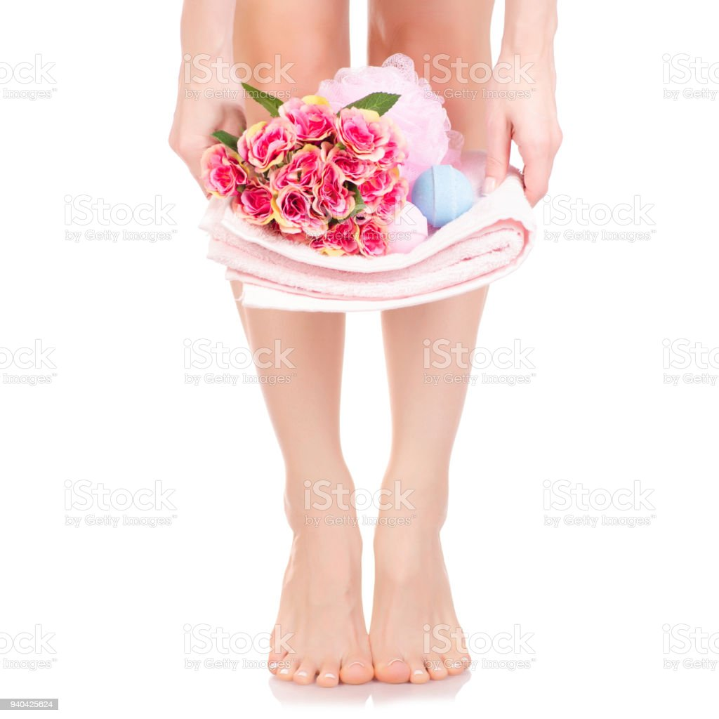 Female feet legs towel flowers bath sponge bubble bath beauty spa female feet legs towel flowers bath sponge bubble bath beauty spa royalty free stock photo izmirmasajfo