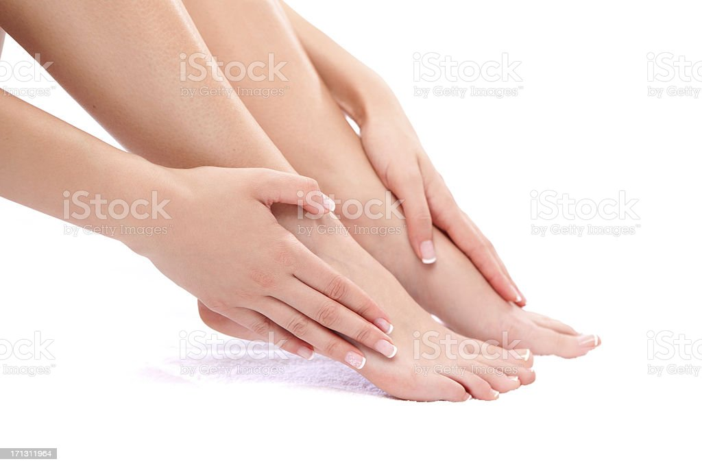 Female feet. stock photo