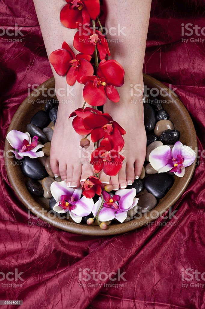 Female feet with pedicure royalty-free stock photo