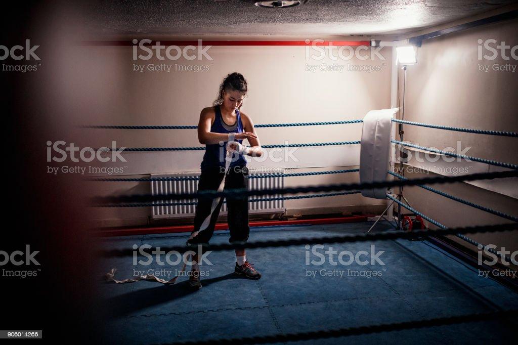 Female Fighter stock photo
