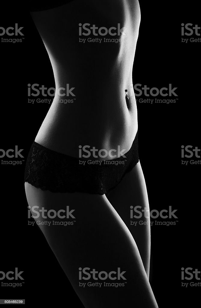 female figure, black-and-white photo stock photo