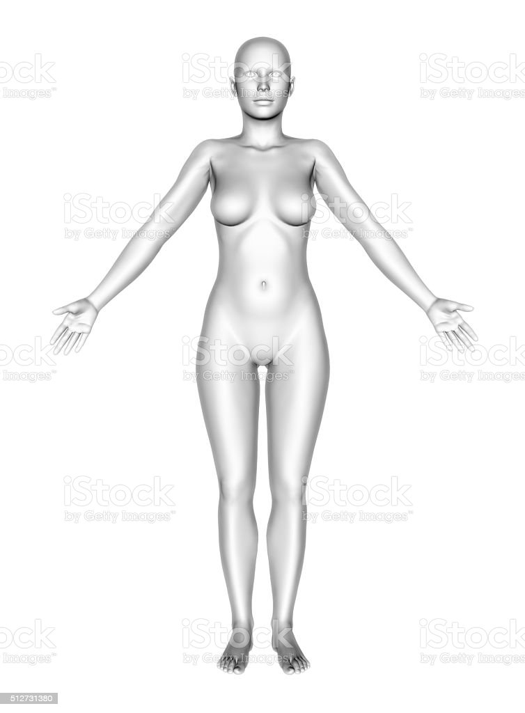3d Female Figure With Smooth Skin Standing Stock Photo & More ...