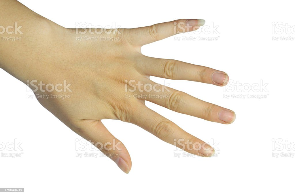 female finger stock photo