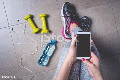 istock Female fitness exercise concept 819034178