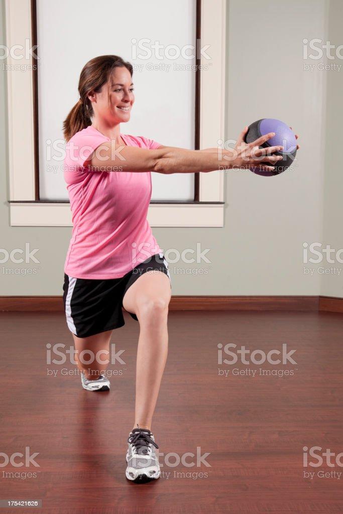 Female fitness series stock photo
