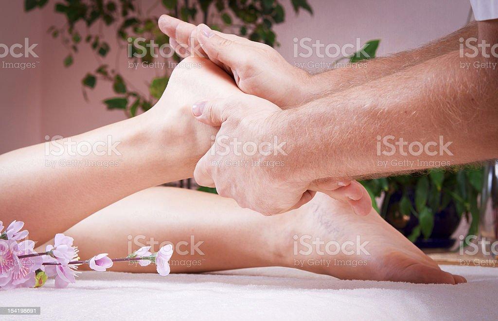 female foot massage royalty-free stock photo