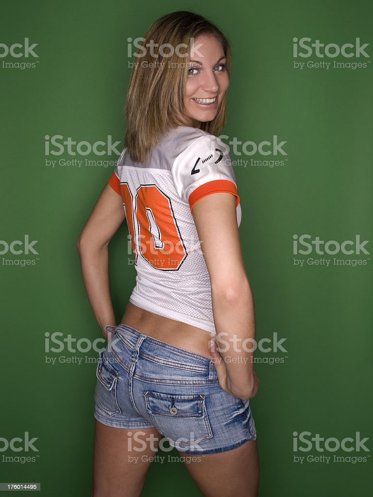 Female Football Fan royalty-free stock photo