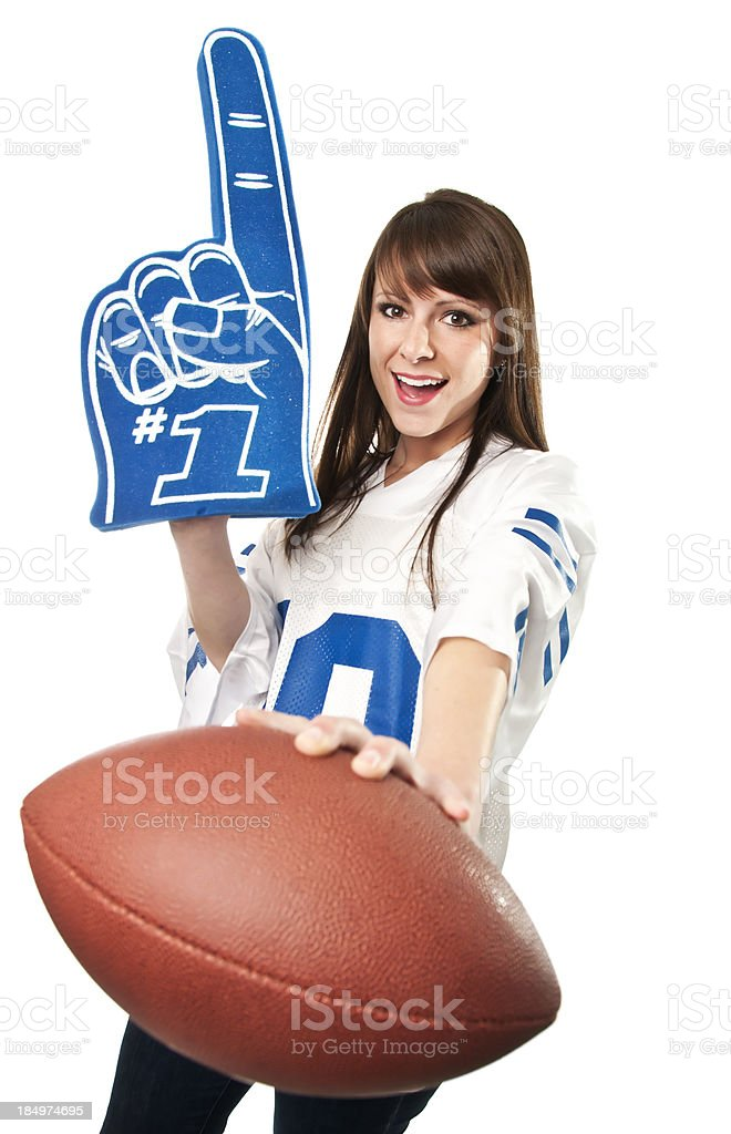Female Football Fan royalty-free stock photo