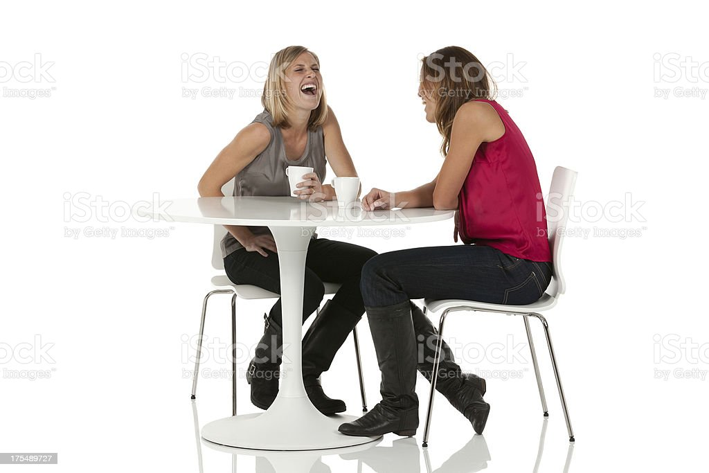 Female friends having coffee in a restaurant