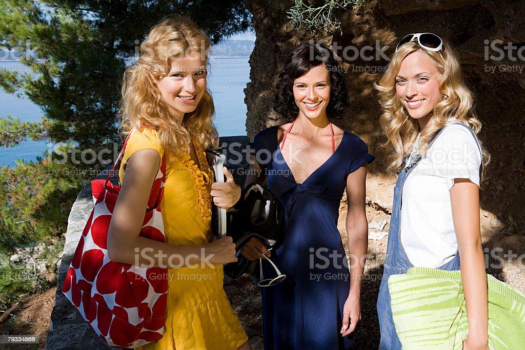 Femininos amigos de Férias foto de stock royalty-free