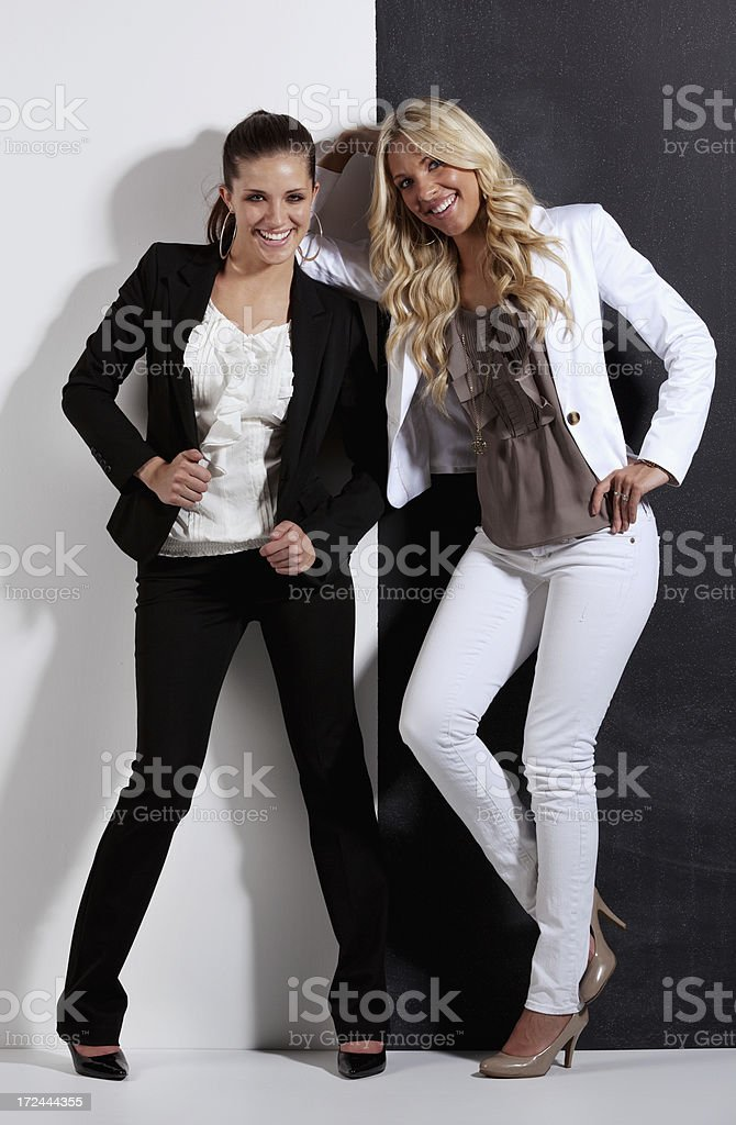 Female friends posing royalty-free stock photo