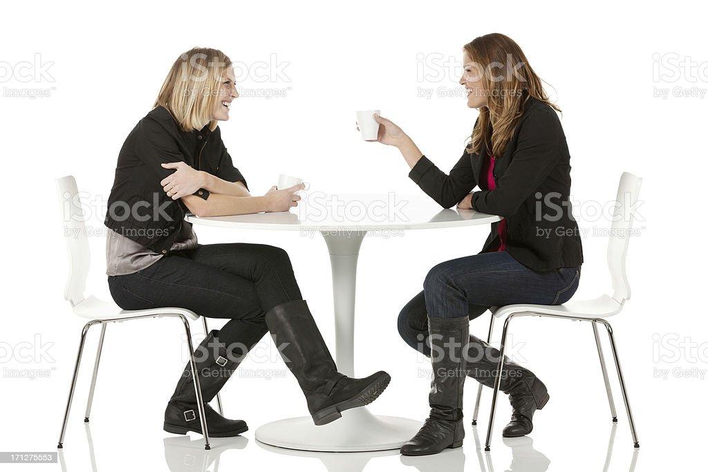 Female friends sitting in a restaurant