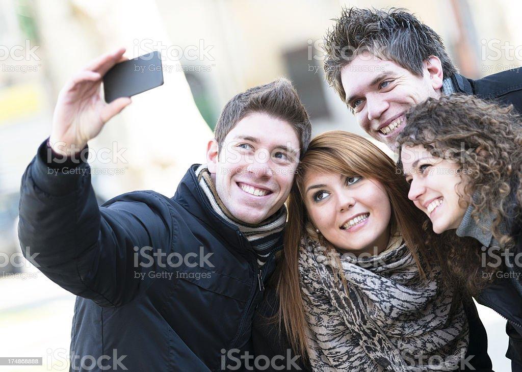 Female friends taking a self portrait royalty-free stock photo