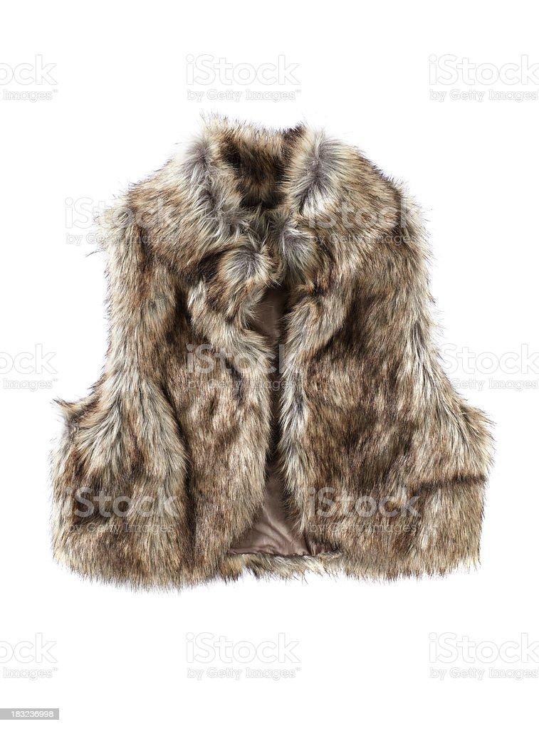 Female Fur vest isolated on white royalty-free stock photo