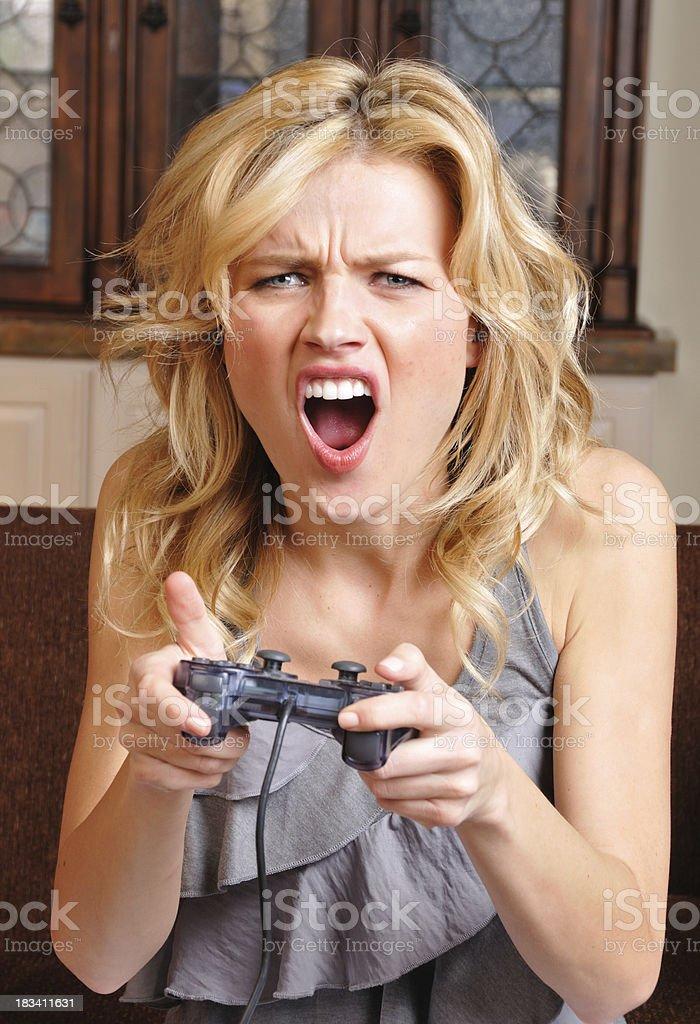 Female Gamer royalty-free stock photo