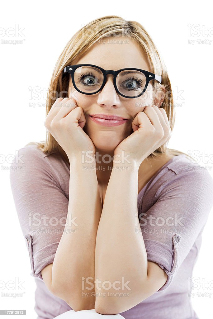 Female geek. royalty-free stock photo