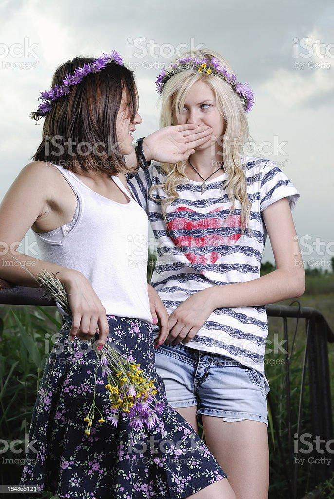 Weiblich flirten
