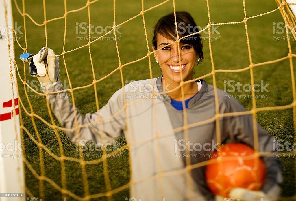 Female Goal Keeper royalty-free stock photo