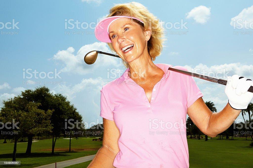 Female golf player royalty-free stock photo