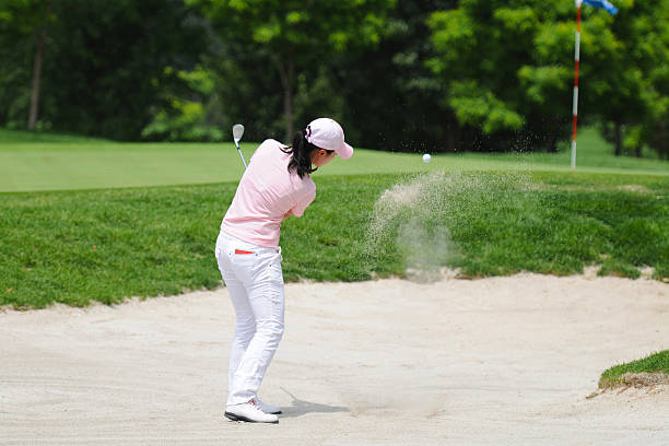 female golfer and golf sport - female golfer stock photos and pictures