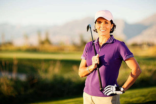 female golfer - female golfer stock photos and pictures