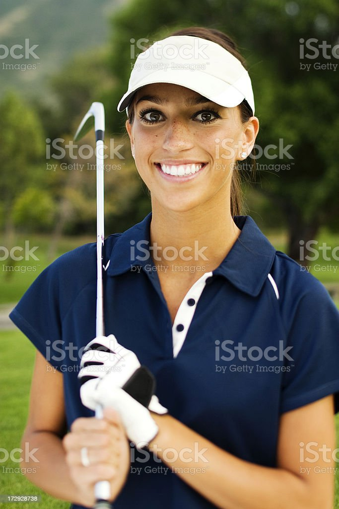 Female Golfer Portrait royalty-free stock photo