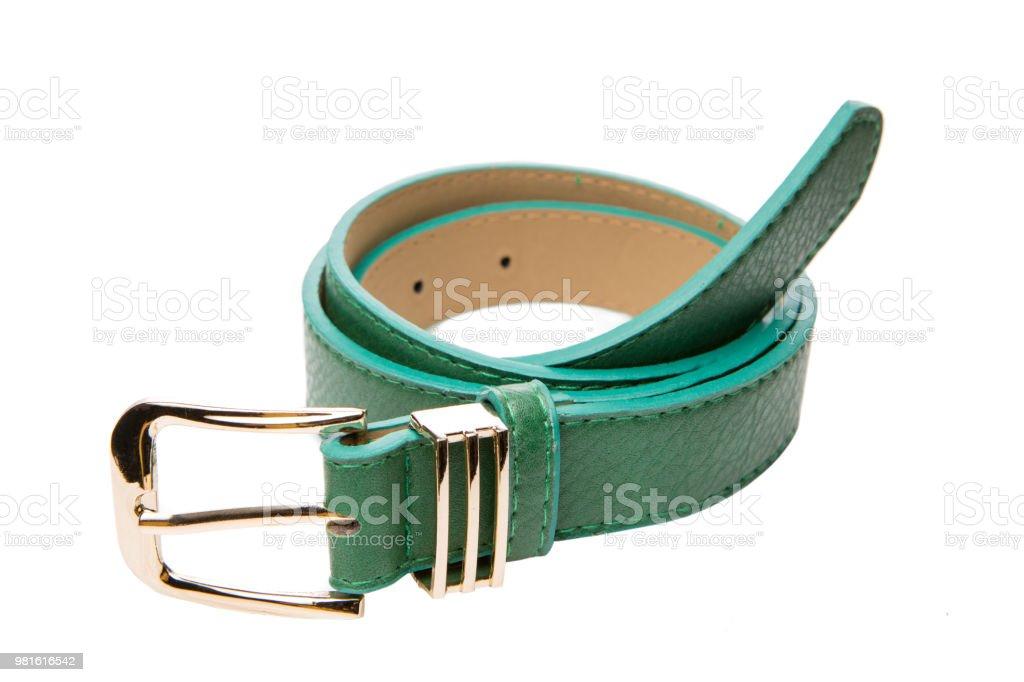 nuevo concepto aa739 603d0 Mujer Cinturón Verde Con Hebilla De Oro Metálico Correa ...