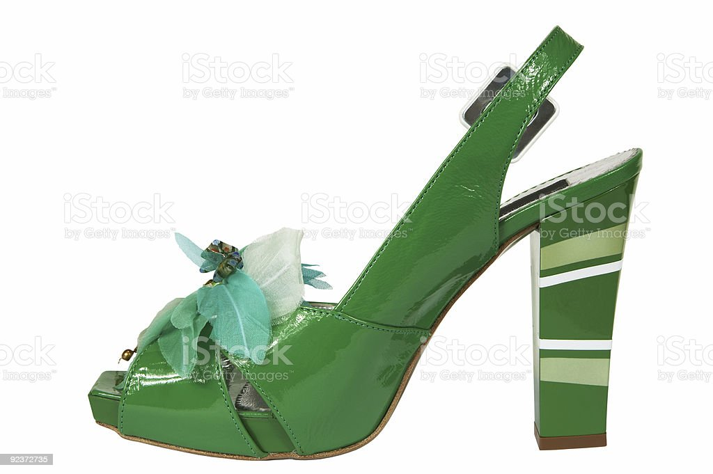 Female green shoes royalty-free stock photo