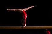 istock Female gymnast in sports hall 519265984