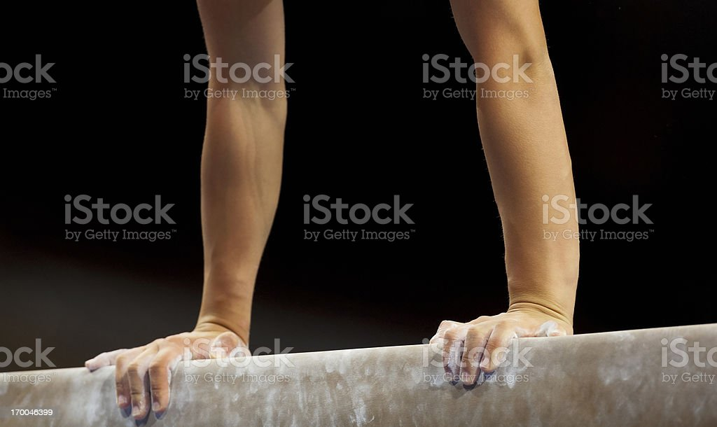 Female Gymnast stock photo
