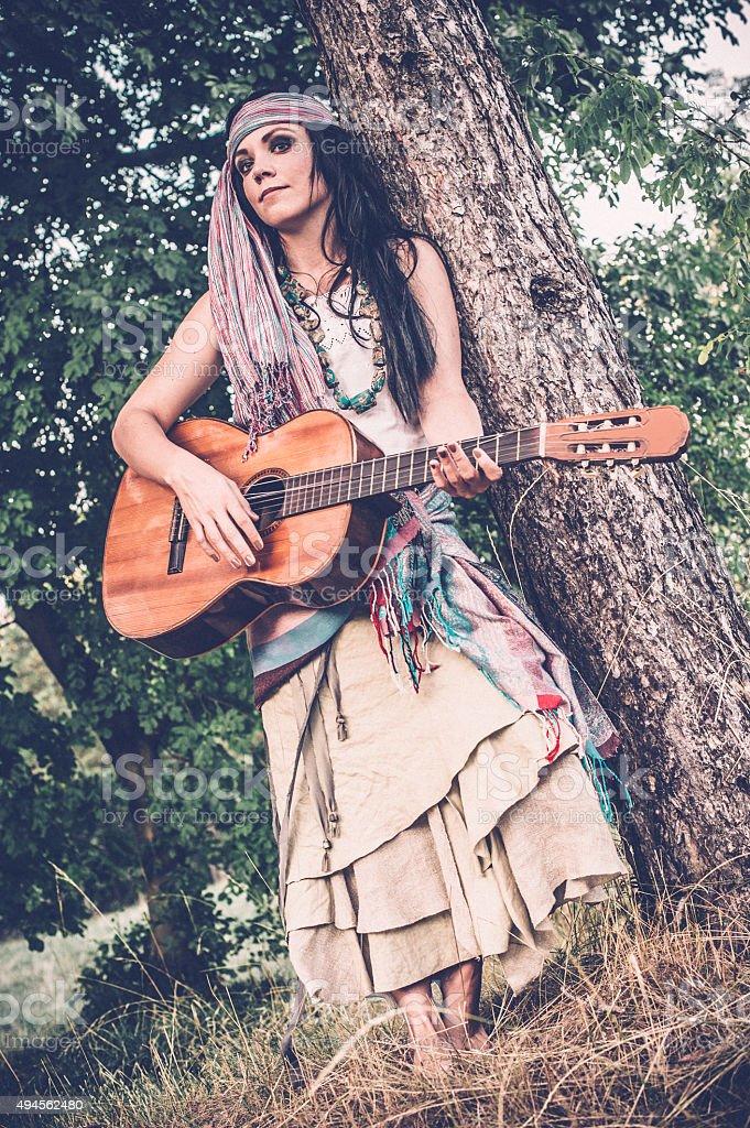 Femme gitane Musicien - Photo